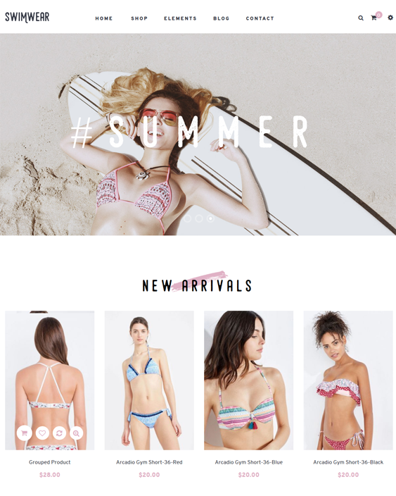 best magento themes bikinis underwear swimwear lingerie feature