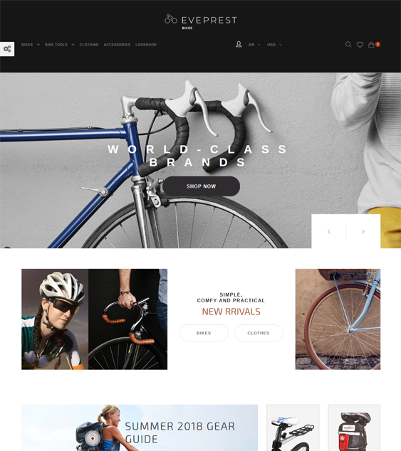 best prestashop themes cycling gear bicycles feature