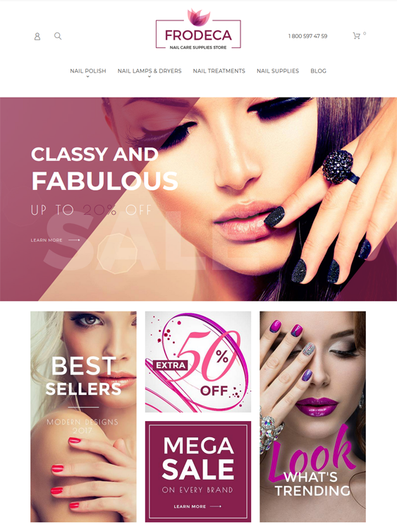 magento themes hair products makeup cosmetics beauty products