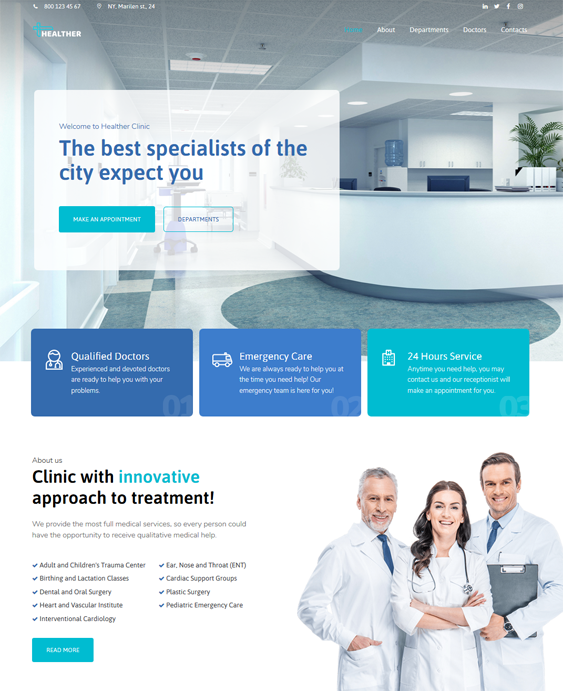 best medical wordpress themes for doctors clinics therapists feature