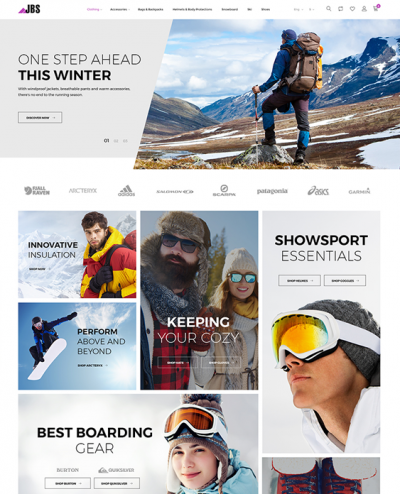 best prestashop themes winter sports stores feature