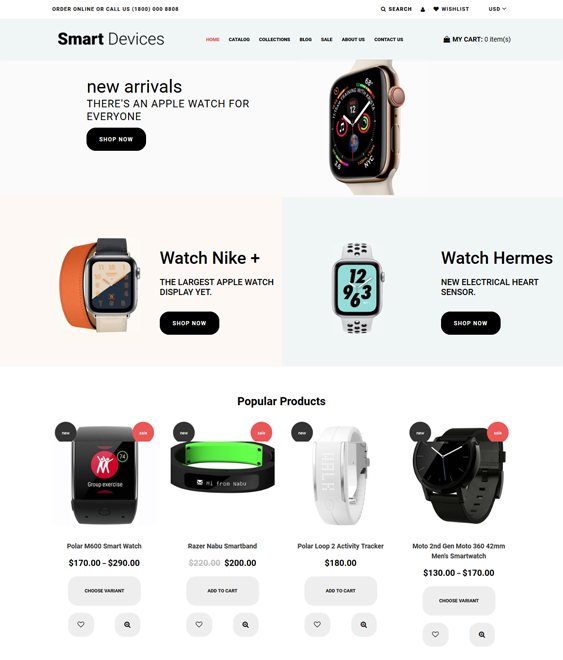 shopify themes jewelry watches