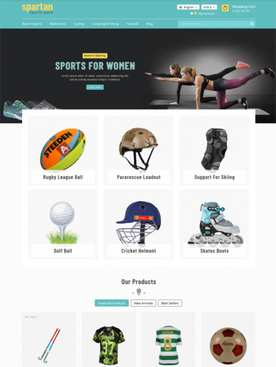 best prestashop themes sports stores feature