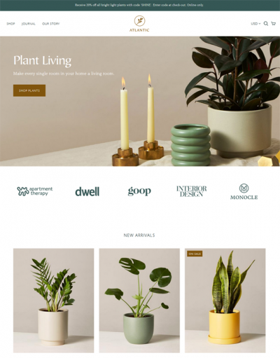 best shopify themes for gardening stores feature