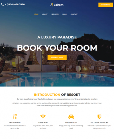 best wordpress themes for hotels vacation rentals feature