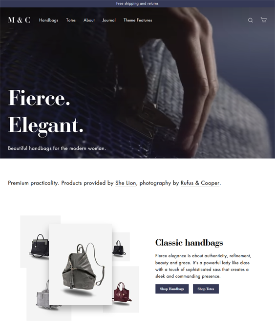 Shopify Themes For Selling Leather Goods