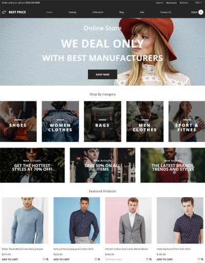best shopify themes for selling clothing apparel feature