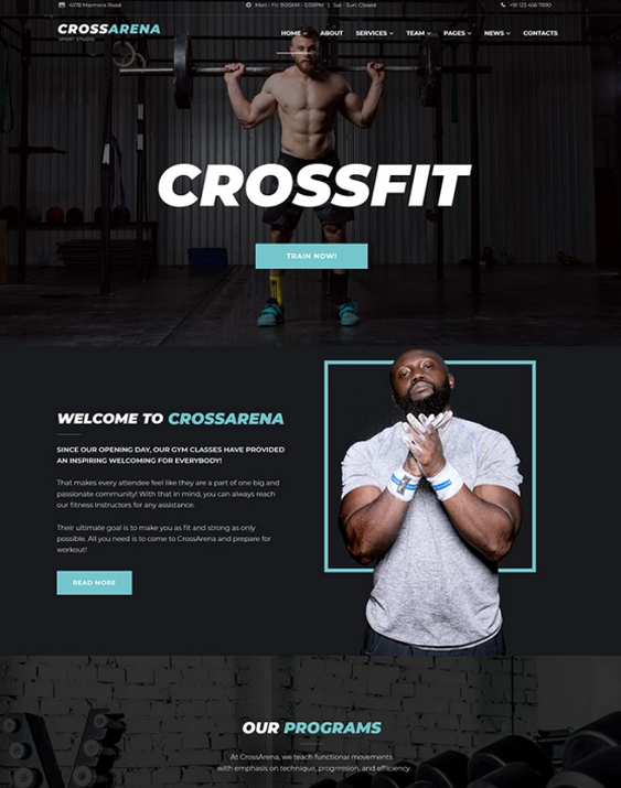 WordPress Themes For Crossfit Gyms feature