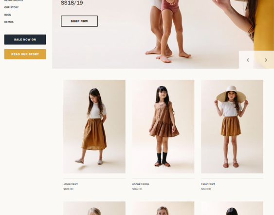 Shopify Themes For Selling Clothing And Accessories For Children, Babies, And Kids feature