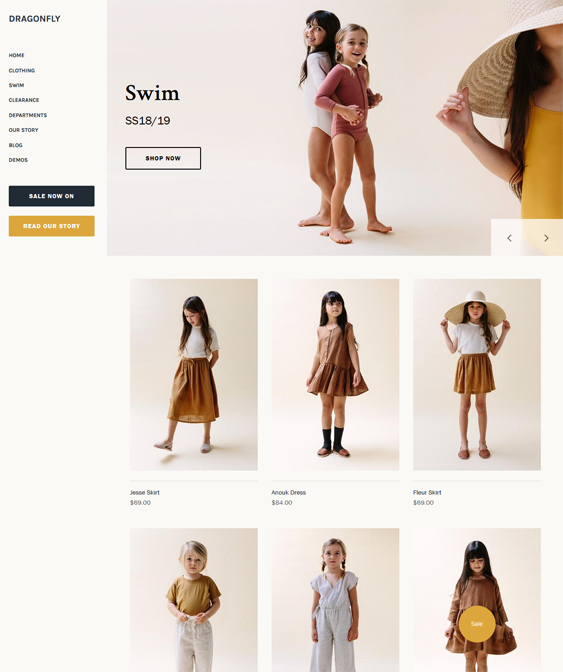 shopify themes for childrens clothing stores