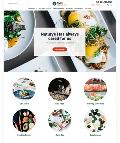 best woocommerce themes for food stores feature