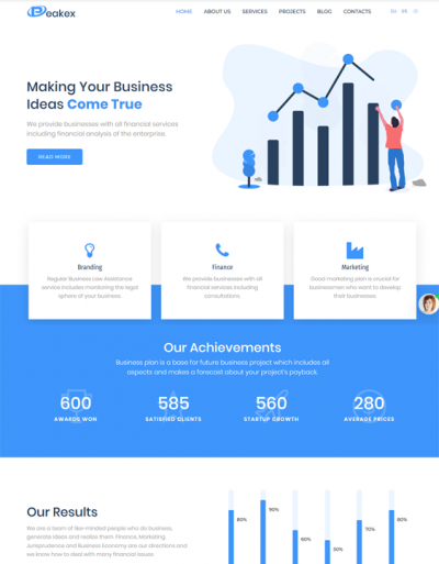 best financial wordpress themes for finance websites feature