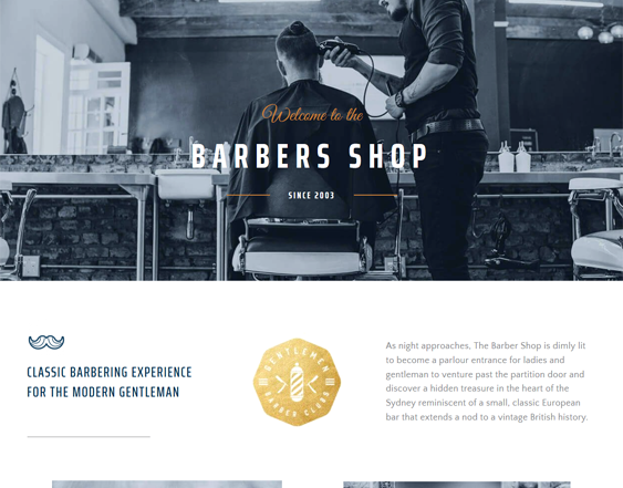 best wordpress themes barber shops barbers feature