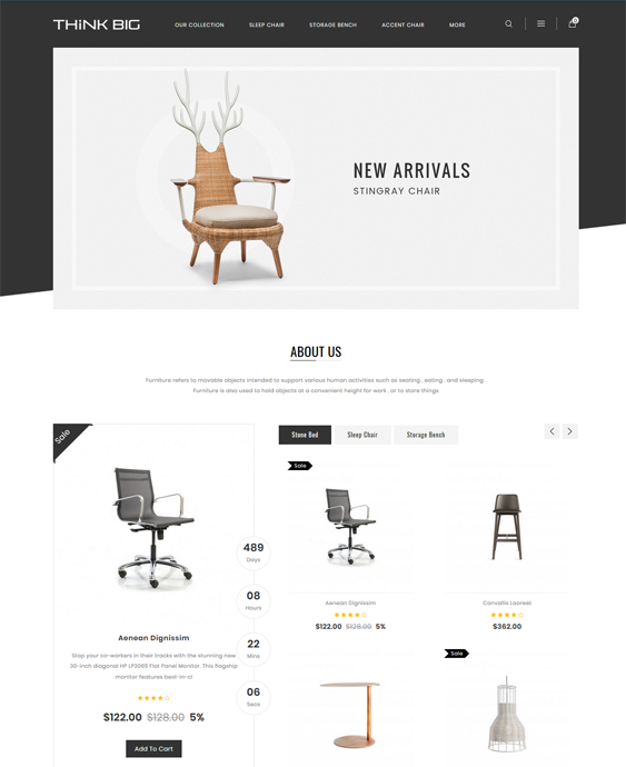 opencart themes for online furniture stores