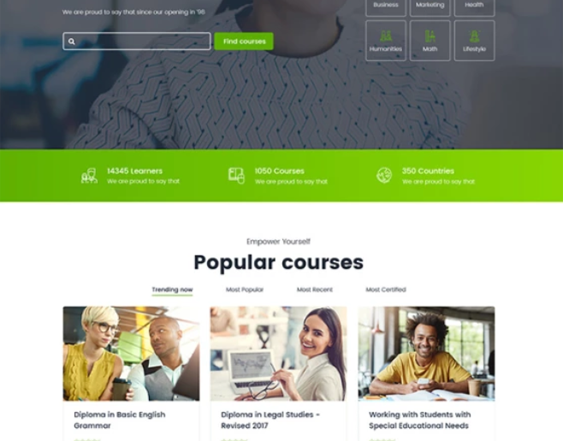 online education wordpress themes feature