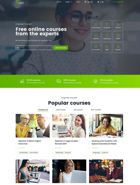 Online Education WordPress Themes