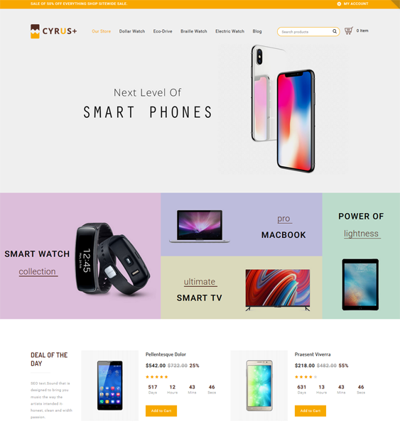best opencart themes for selling electronics feature