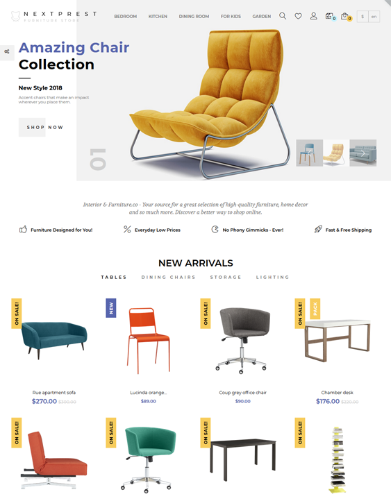best prestashop themes furniture stores feature