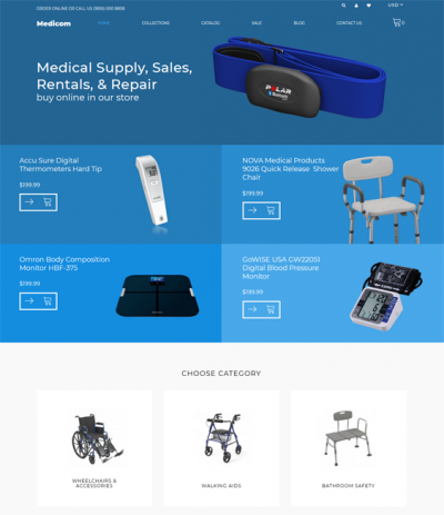 best medical health shopify themes feature