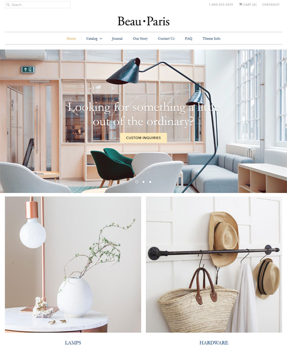 Shopify Themes For Interior Design And Home Decor Stores