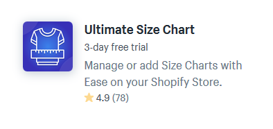 shopify apps plugins for size guides charts
