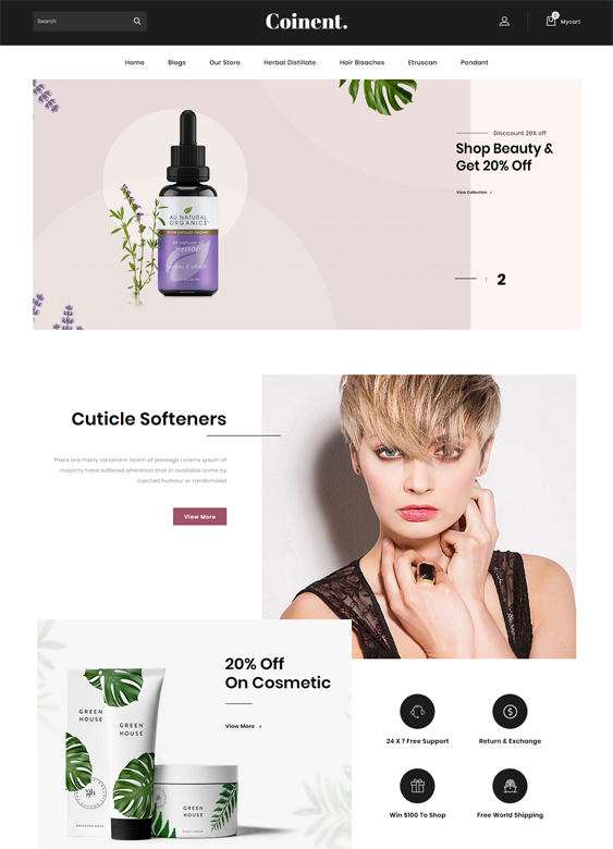 opencart themes for online beauty stores