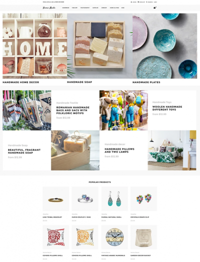 best shopify themes for selling handmade arts crafts goods feature