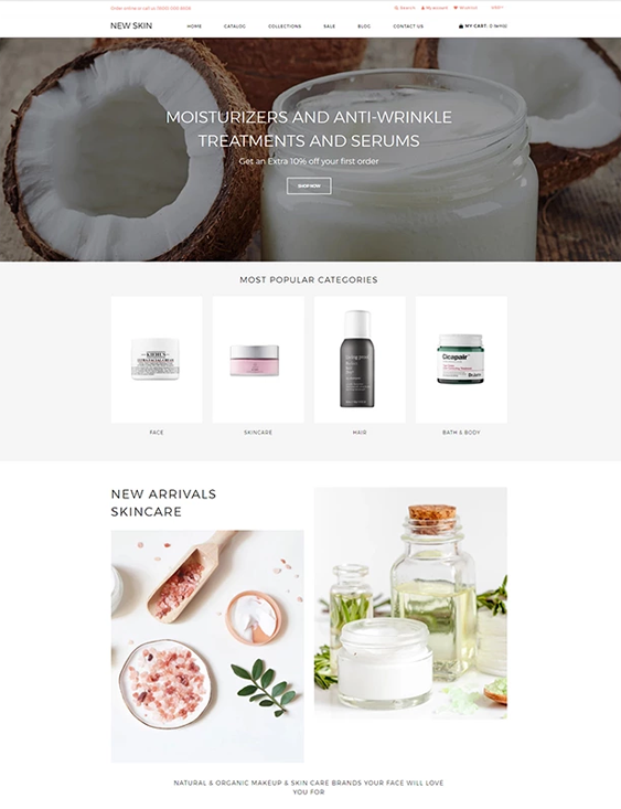 shopify themes for online beauty stores