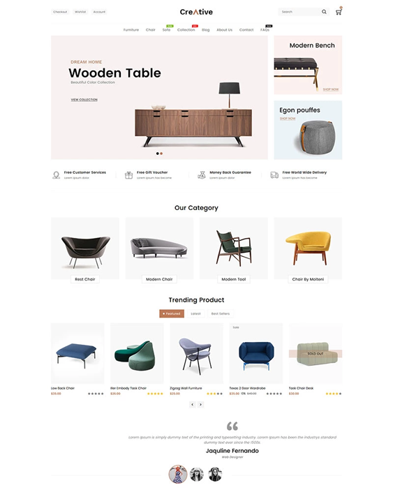 shopify themes for online furniture stores