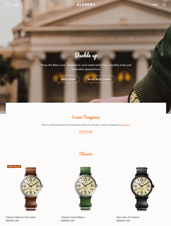 shopify themes for mens accessories