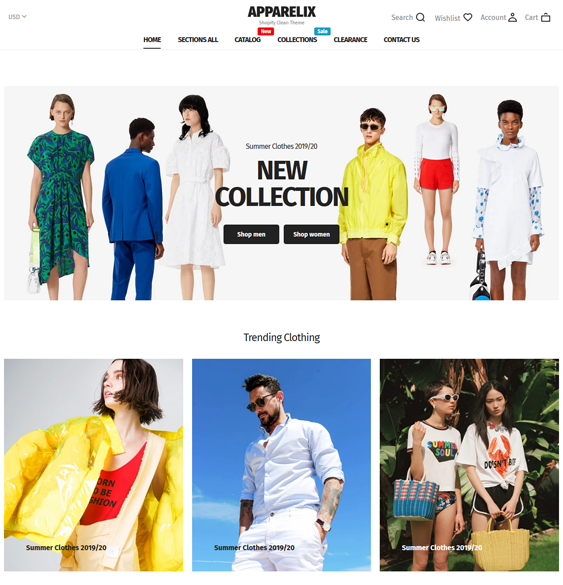 best fashion shopify themes for selling men and womens clothing feature