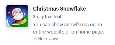 shopify apps for snow effects for christmas