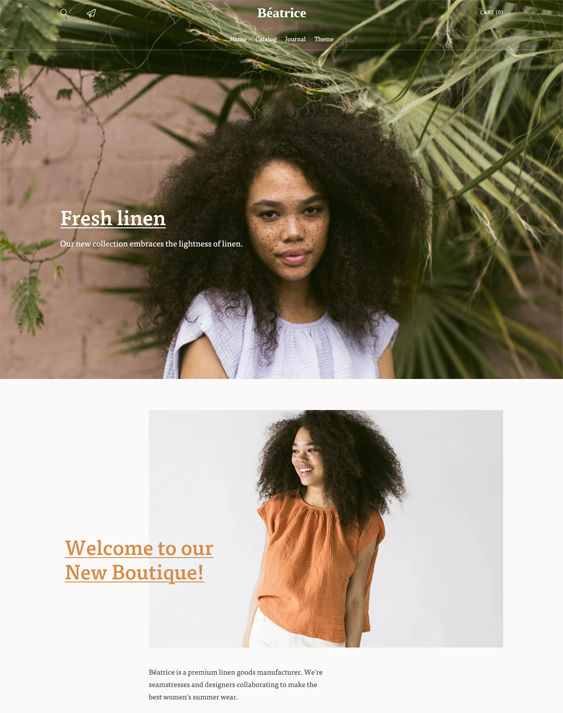 Shopify Themes For Women's Clothing Stores feature