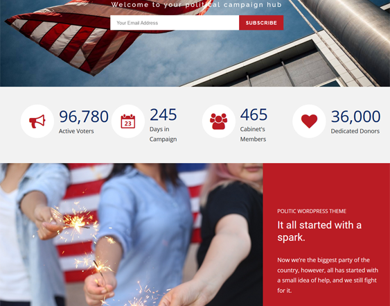 best political wordpress themes feature
