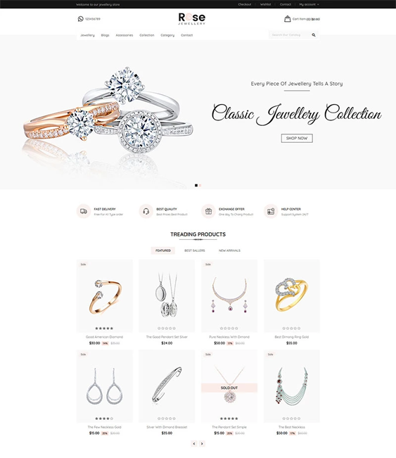 shopify themes for watch and jewelry stores