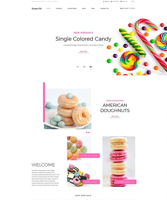shopify themes for selling groceries and gourmet food