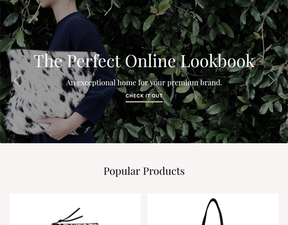 best bigcommerce themes for selling handbags purses wallets luggage feature