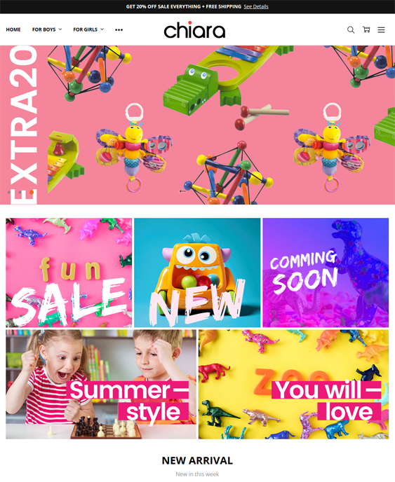 best bigcommerce themes for kids children babies feature
