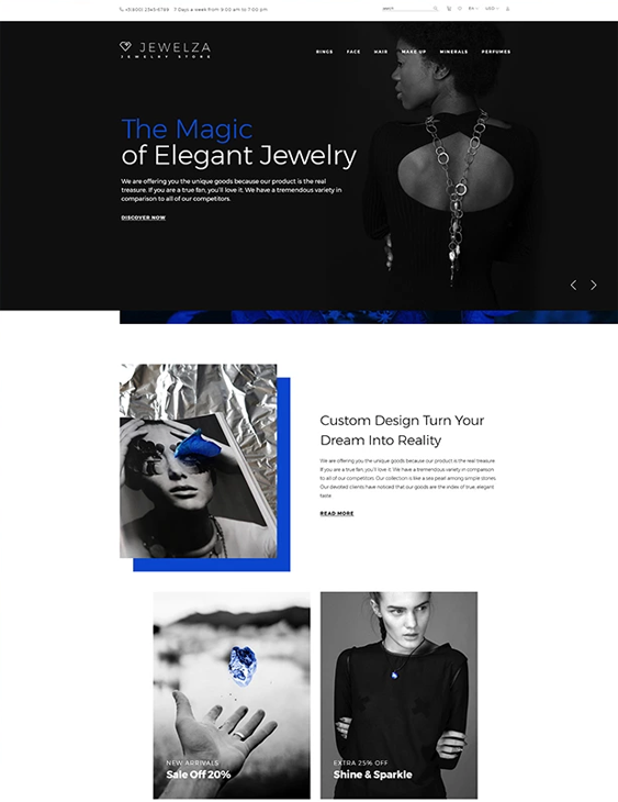 opencart themes for jewelry stores