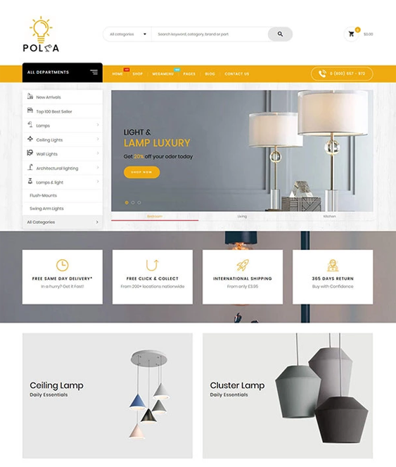 shopify themes for furniture homeware stores