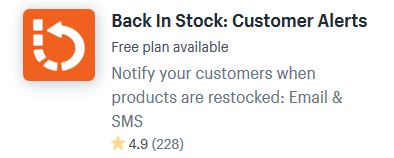back in stock shopify apps plugins