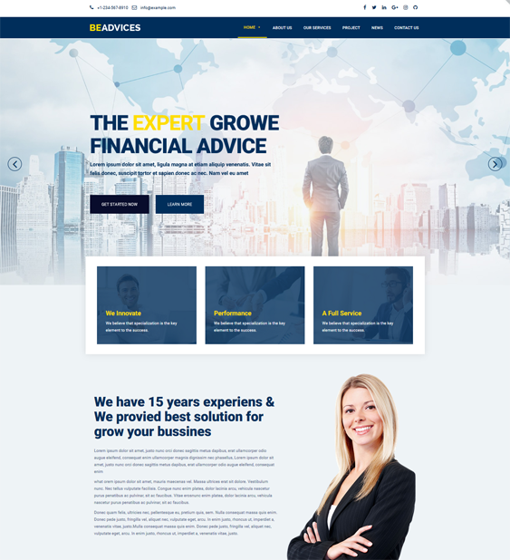 finance wordpress themes financial websites feature