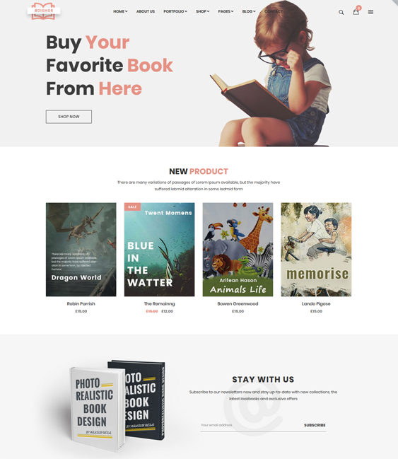 woocommerce themes for online book stores