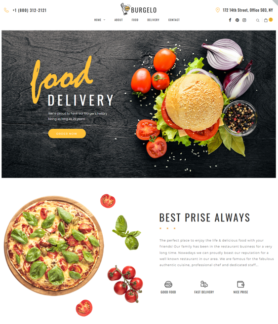 restaurant food delivery woocomerce themes feature