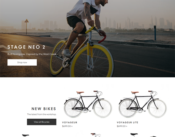 shopify themes bike cycling stores feature