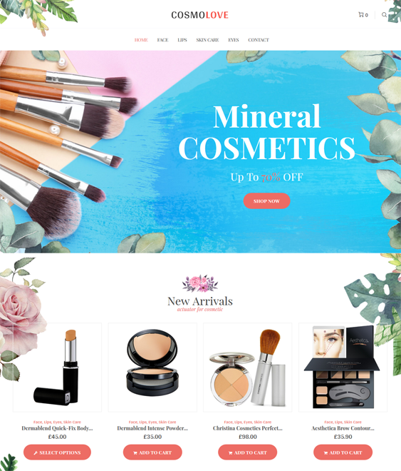 beauty woocommerce themes feature