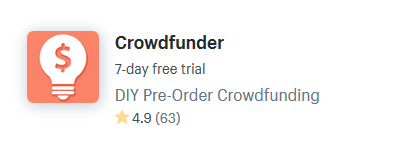 crowdfunding shopify apps plugins