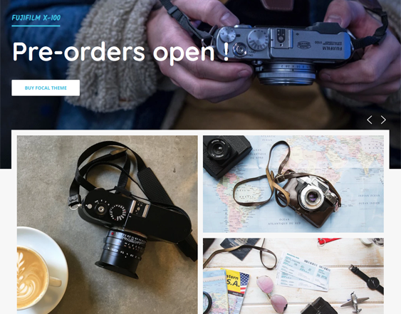 camera store shopify themes feature