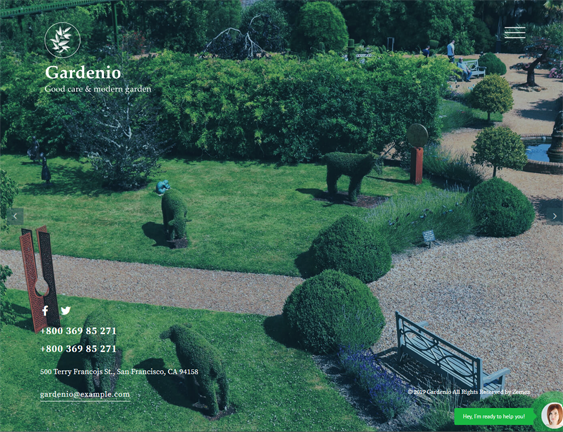 wordpress themes gardening landscaping companies