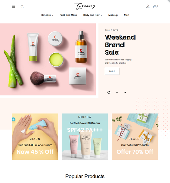 beauty prestashops themes feature